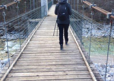 Il ponte sul Torrente Resia