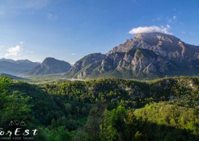 Ampio panorama sulla valle del Tagliamento