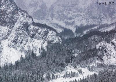 Alta Val Saisera innevata, Alpi Giulie, Friuli