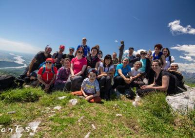 Foto di gruppo dalla cima!