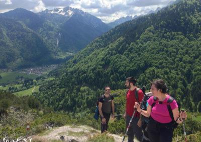 Il primo panorama su Valbruna