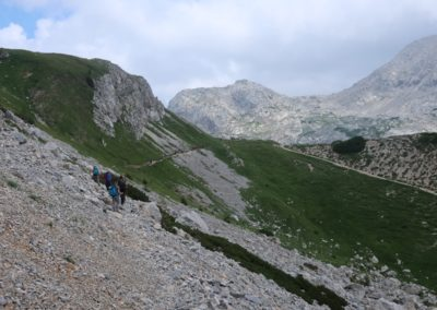 Glorioso traverso sui ghiaioni