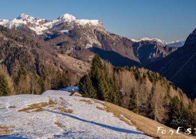 Col Gentile e la valle del Lumiei