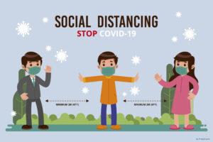 Covid distanziamento sociale attività aria aperta